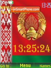 SWF clock Belarus flag1 theme screenshot