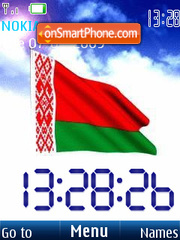 SWF clock Belarus flag2 theme screenshot