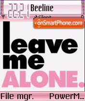 Leave Me Alone 01 theme screenshot