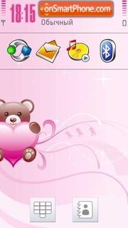 Abstract Love Pink theme screenshot