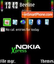 Xpress v1.1 01 es el tema de pantalla
