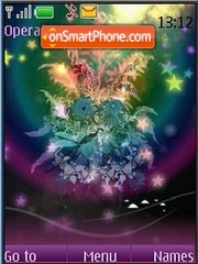 SWF abstract flowers animated theme screenshot