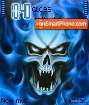 Flaming Vampire Skull theme screenshot