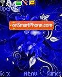 Floral Blue theme screenshot