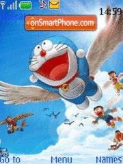 Up Up And Away Doraemon theme screenshot