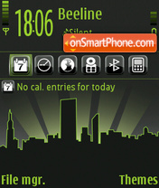 City 08 theme screenshot