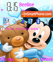 Mickey Bear theme screenshot