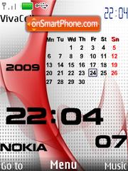 Capture d'écran Nokia Red Calendar thème