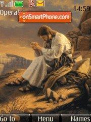 Jesus Praying theme screenshot