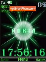 SWF clock Nokia anim theme screenshot