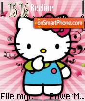 Hello Kitty Punk theme screenshot