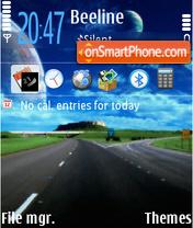 Highway 01 tema screenshot