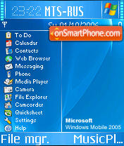 Windows Mobile 2005 theme screenshot