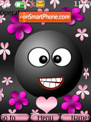 Cute Smiley es el tema de pantalla