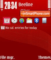 Redlines theme screenshot