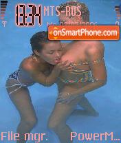Lesbo Hot Girl theme screenshot