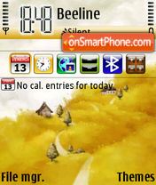 Yellow Land Nokia Theme es el tema de pantalla