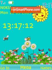 SWF clock spring anim theme screenshot