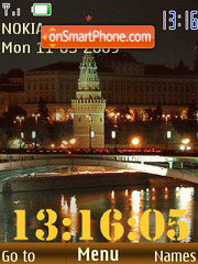 SWF Moscow clock anim theme screenshot