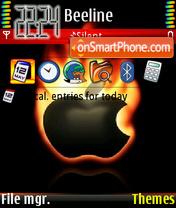 Apple On Fire theme screenshot