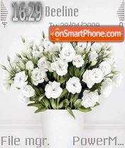 White Flowers 01 theme screenshot