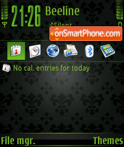 Style Green Black tema screenshot