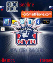 New York Rangers RD es el tema de pantalla