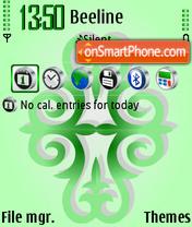 Green ornament theme screenshot