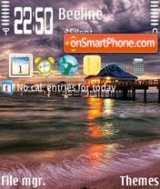 Beach Storm theme screenshot