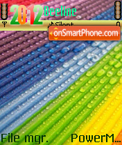 Rainbow Drops theme screenshot