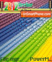 Rainbow Drops theme screenshot