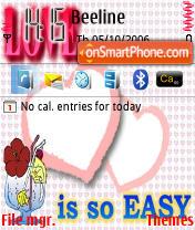 Love Is So Easy es el tema de pantalla
