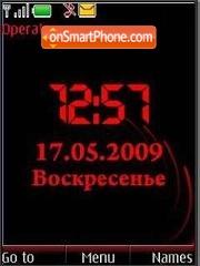 SWF clock $ rus date anim theme screenshot