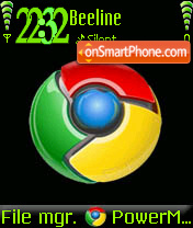 Google Crome V2 theme screenshot