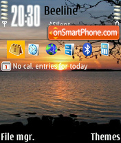 Sunrise theme screenshot
