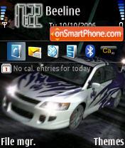 NFS Carbon 02 theme screenshot