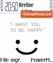 Be Happy Animated theme screenshot