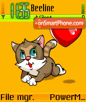 Kitty Love theme screenshot