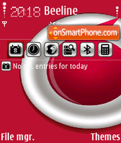 Vodafone Sunnyl theme screenshot