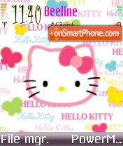 Hello Kitty 27 theme screenshot