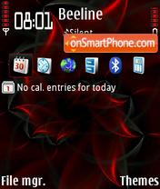 Red Petals V2 default es el tema de pantalla