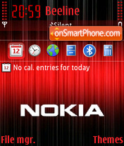 Nokiared theme screenshot