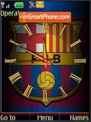 SWF clock Barcelona theme screenshot