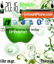 Apple Iphone theme screenshot