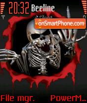 Skeleton Fu-ck theme screenshot