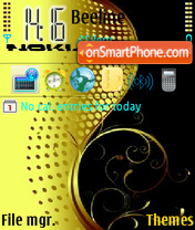 Nokia Yellow theme screenshot