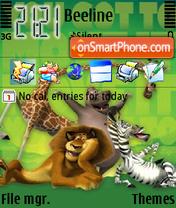 Medagaskar theme screenshot