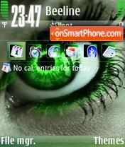 Green Eye 01 theme screenshot