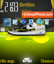 Nike Air 01 theme screenshot