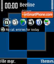 Black & Blue theme screenshot